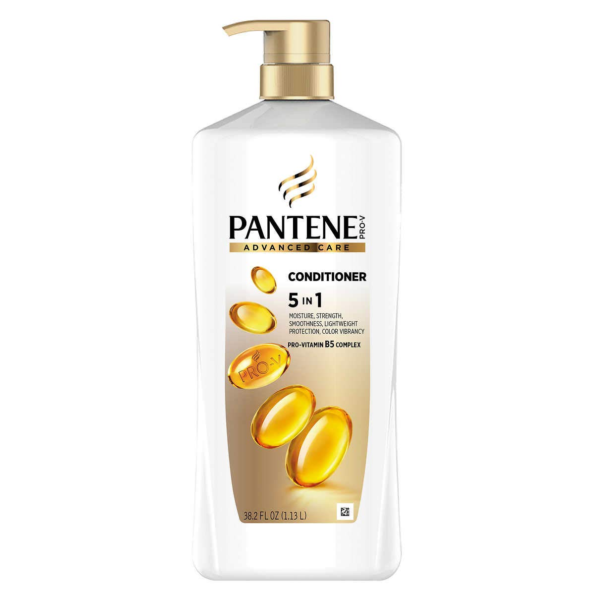 Pantene Advanced Care Conditioner, 5 in 1 Moisture, Smooth, Lightweight, Strength, Color Vibrancy, 38.2 Ounce