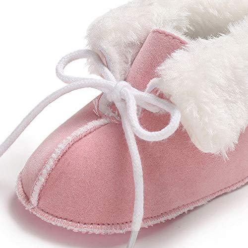 fee92712123aa Occasionnel Bébé Unie Chaussures Manadlian D hiver Enfants Antidérapante  Chaud Rose À Doux De Bottes Couleur Semelle ...