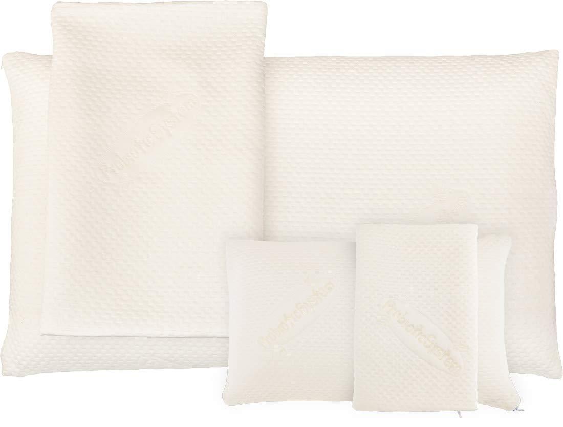 MABAMAHO 2-tlg MIX-SPAR-Set  1x (80x40x15cm) Probiotic Ag+ und 1x (40x24x12cm) TRAVEL Nackenstützkissen aus Gelschaum, Orthopädisch & Allergikerfreundlich