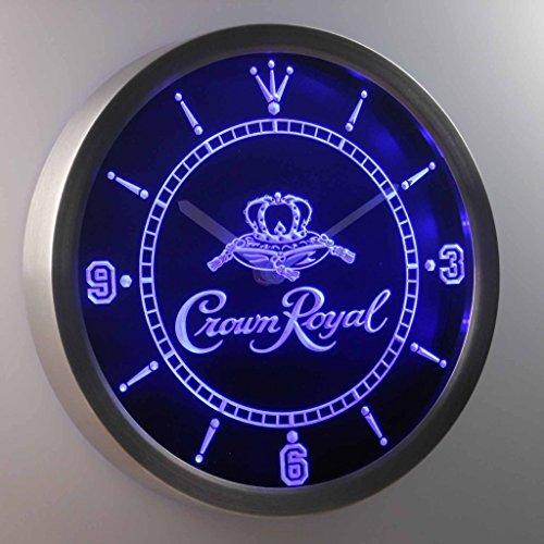 Amyove Crown Royal Whiskey 3D Neon Sign LED Wall Clock NC0104 B (Crown Royal Neon Clock)
