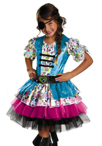 Disguise Playful Pirate Girls Costume, One Color, 3T-4T (Holloween Pirate Costumes)