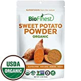Biofinest Sweet Potato Powder -100% Pure Antioxidants Superfood - USDA Certified Organic Kosher Vegan Raw Non-GMO - Boost Digestion Weight Loss Detox - for Smoothie Beverage (4 oz Resealable Bag)