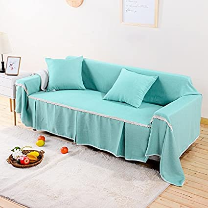 Yiwant Cotton Linen Sofa Shield Couch Slipcover Furniture Protector,  Machine Washable, Cover Perfect For