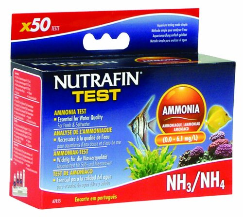 Nutrafin Ammonia 0.0 to 6.1 Mg/L for Fresh and Saltwater, 50-Tests - Hagen Ammonia Test
