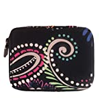 Vera Bradley Travel Pill Case in Bandana Swirl Solid Black Lining