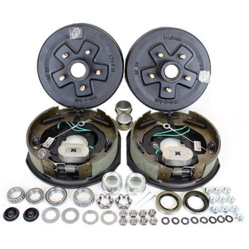 Southwest Wheel 3,500 lbs. Trailer Axle Self Adjusting Electric Brake Kit 5-5 Bolt Circle ()