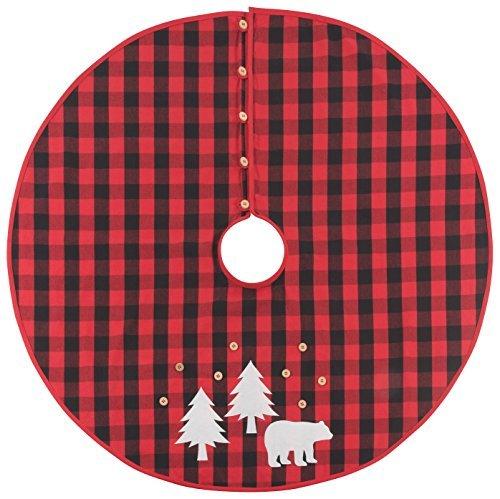 Now Designs 3016001 Tree Skirt Buffalo Check - Christmas Tree Skirt Bears