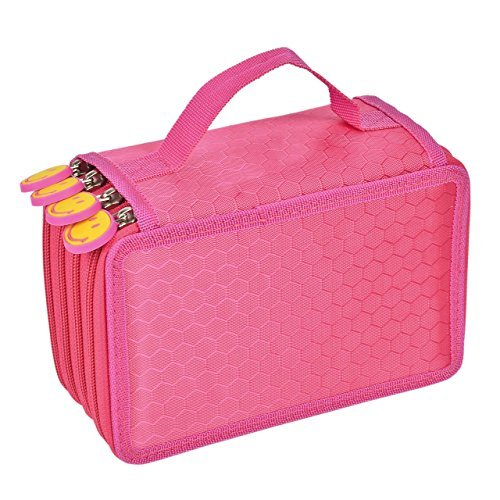 72 Pencil Holder, Honeyall 4-Layer Large Capacity Pencil Bag Case Pounch Rose Arts Crafts Storage Boxes & Organizers