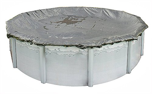 (12 Ft x 24 Ft Oval Winter Protective Above Ground Pool Solid Cover Arctic Armor Gorilla Cable Winch 20 Year Warranty)