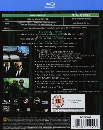 the complete matrix trilogy the matrix the matrix