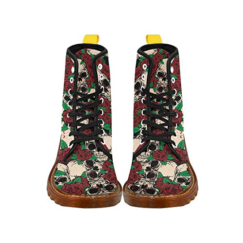 For Grunge Women and Boots Roses InterestPrint artistic Print Lace alphabet Skulls Up wTqZZR41x