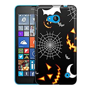 Nokia Lumia 640 Case, Slim Fit Snap On Cover by Trek Bats Moons and Spiders Pattern Case
