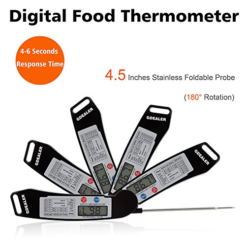 GDEALER-Instant-Read-Thermometer-Super-Fast-Digital-Electronic-Food-Thermometer-Cooking-Thermometer-Barbecue-Meat-Thermometer-with-Collapsible-Internal-Probe-for-Grill-Cooking-Meat-Kitchen-Candy