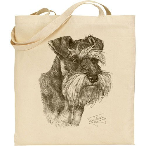 Mike Sibley Schnauzer Cotton Natural Bag