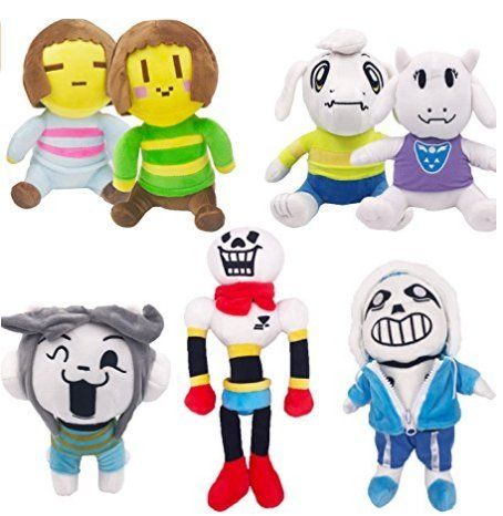Undertaleのセット7キュートSan Papyrus Toriel Asriel Temmie Frisk and Chara Plush Stuffed Doll Toy by ESSENCED