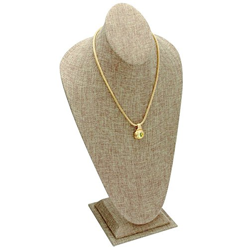 Tall Burlap Jewelry Necklace/Chain/Pendant Display Stand ~ 14.5