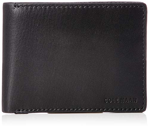 Cole Haan Men's Hamilton Grand Bifold with Removable Passcase, black, One Size ()