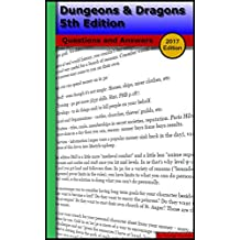 Dungeons & Dragons 5th Edition (2017 Edition): Questions and Answers