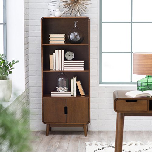 Belham Living Carter Mid Century Modern Bookcase