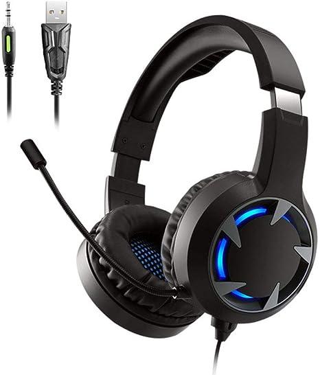 Gaming Headset, Computer PC Auriculares con Micrófono Sonido ...
