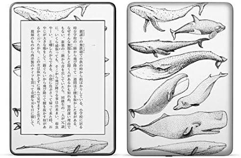 igsticker kindle paperwhite 第4世代 専用スキンシール キンドル ペーパーホワイト タブレット 電子書籍 裏表2枚セット カバー 保護 フィルム ステッカー 015827 魚 海 くじら シャチ