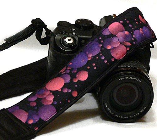 Camera Strap. Bubbles, Balls Camera Straps. DSLR SLR Camera Strap. Purple Pink Camera Strap. Camera Strap. Camera Accessories; 082