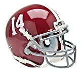 Alabama Crimson Tide #14 Schutt Authentic Mini Helmet