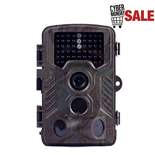 ANRAN Trail Hunting Camera HD 16MP 1080P Video Night Vision Infrared LEDs Waterproof Wildlife Animal Hunting Camera, No SD Card by ANRAN