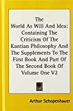 Image of The World as Will and Idea: Containing the Criticism of the Kantian Philosophy and the Supplements to the First Book and Part of the Second Book O