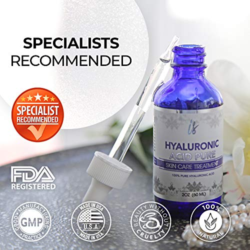 51ZCRARlq%2BL - Hyaluronic Acid for Face (2 oz) - 100% Pure Medical Quality Clinical Strength Formula - Anti aging formula for your skin