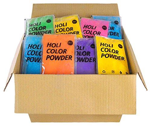 Ohfx - Pack de 96 bolsas de polvo Holi, color azul, verde, naranja, rosa y lila (HOLIP16)