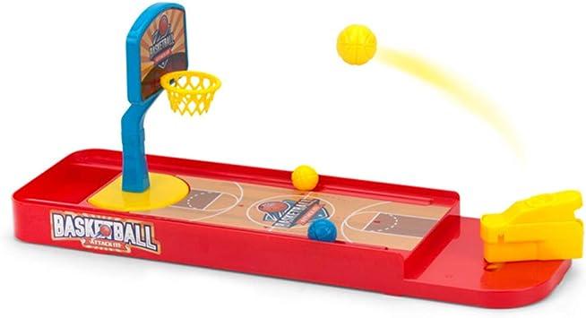 Toyvian Juego de Disparos de Baloncesto 1 Juego Juegos de Baloncesto de Mesa de Escritorio Divertido Juguete Deportivo Mini Dedo Set de Baloncesto para Niños: Amazon.es: Juguetes y juegos