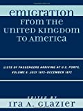 Emigration from the United Kingdom to America, , 0810861674