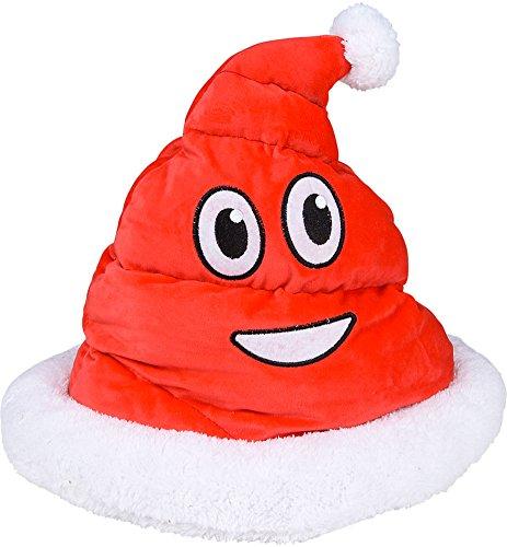 Christmas Plush Emoji Santa Poop Hat