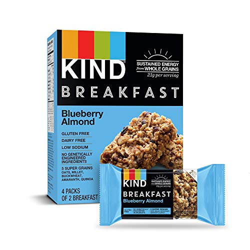 KIND Breakfast Bars, Blueberry Almond, Gluten Free, 1.8oz, 32 Count