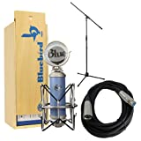 (US) Blue Bluebird Microphone Bundle with Mic Boom Stand, XLR Cable and Pop Filter Popper Stopper