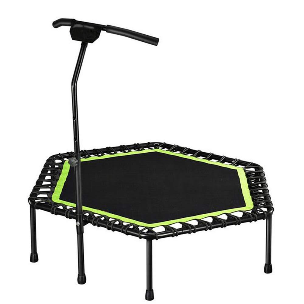 GCCLCF Kinetic Sports Fitness Trampolin Indoor Haustrampolin, faltbares Bungee, geeignet für das Fitnessgewicht der Erwachsenen Kinder 150KG,Grün