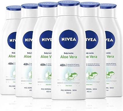 NIVEA Body Loción Aloe Vera en pack de 6 (6 x 400 ml), loción ...