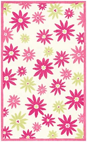 Loloi PIPER Area Rug, 5-Feet by 7-Feet, Pink Green