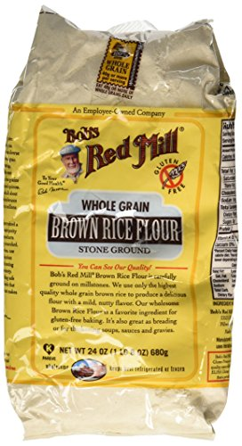 One 24 oz Bob's Red Mill Whole Grain Brown Rice Flour