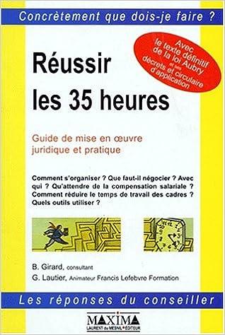 Téléchargement Réussir les 35 heures pdf, epub ebook