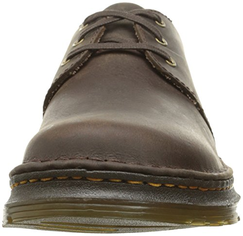 Dr.Martens Mens Hazeldon Kingdom Leather Shoes Brown