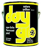 DayGlo Fluorescent Solvent-Based 215 Series Brushing Enamel Paint (Quart, Saturn Yellow, 215-17)