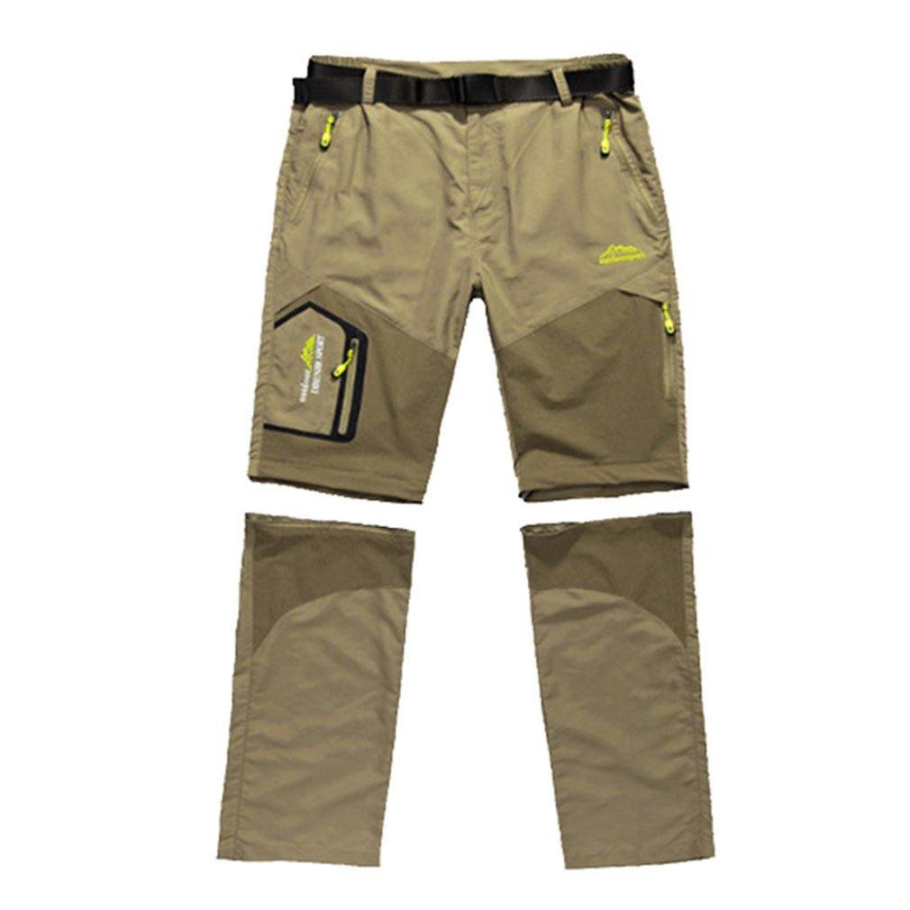 emansmoer Herren Outdoor Quick Dry Wicking Abnehmbar Zip Off Bein Hose Leicht Reisen Camping Angeln Trousers