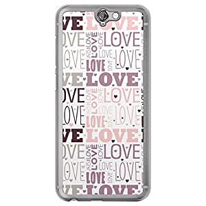 Loud Universe HTC One A9 Love Valentine Printing Files Valentine 181 Printed Transparent Edge Case - Multi Color