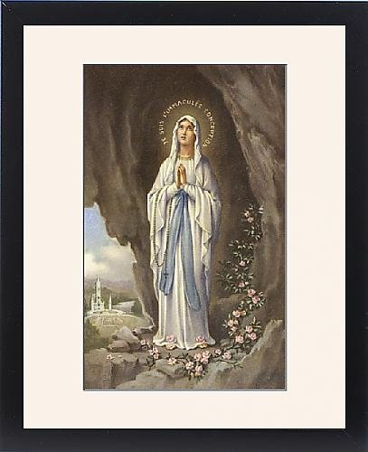 Framed Print Of Notre Dame De Lourdes by Prints Prints Prints