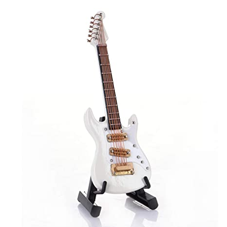 Guitarra de 10 cm Mini guitarra eléctrica modelo guitarra miniatura modelo Guitarra Collection adornos decorativos modelo
