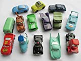Nicky's Gift LanLan Set of 14pc Pixar Cars Full Family PVC Mini Figure TV Character Toys Lot McQueen