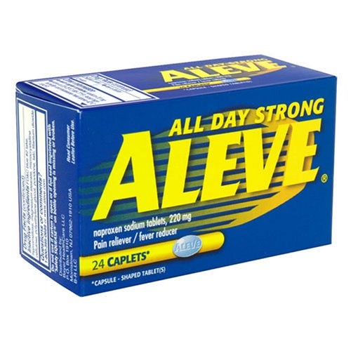 Aleve All Day Forte anti-douleur, antipyrétique, Caplet, 24-pack