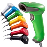 inFlow 7 Color USB Automatic Barcode Scanner Price Reader with Weighted Stand - Easy Plug and Play with No Hassle 30 Day and Full 2 Year Guarantee (Jade Green)